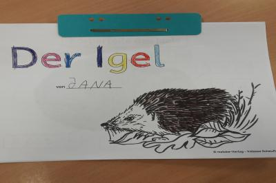 Foto zur Meldung: Klasse 1b: Der Igel