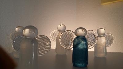 Engel aus Glas von Barbara Ebner von Eschenbach