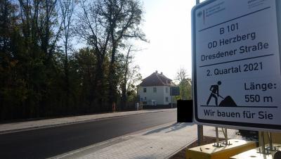 Vorschaubild zur Meldung: B 101 Dresdener Straße - Verkehrsfreigabe erfolgte planmäßig am 30.10.2020.