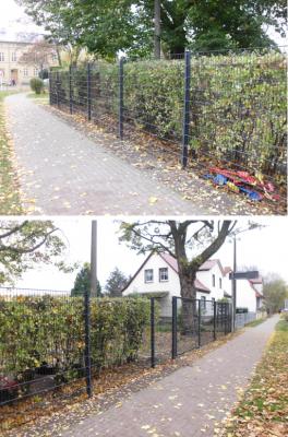 """Vorschaubild zur Meldung: Neuer Zaun für den Hort der Kita """"Marie Juchacz"""""""