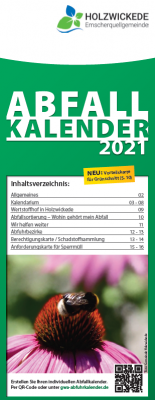 Vorschaubild zur Meldung: Abfallkalender 2021 werden verteilt