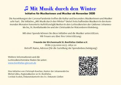 Flyer Mit Musik durch den Winter