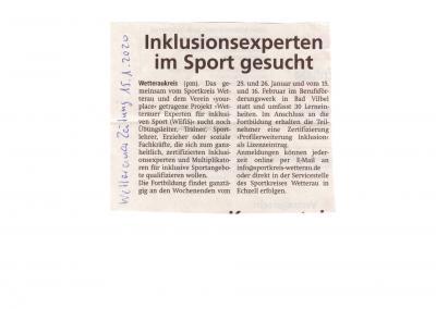 Inklusionsexperten im Sport gesucht