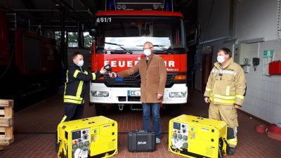 Vorschaubild zur Meldung: Übergabe wichtiger Einsatztechnik an die Feuerwehr Doberlug-Kirchhain