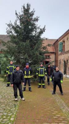 Foto zu Meldung: Grebser Weihnachtsbaum aufgestellt
