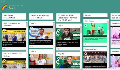 Vorschaubild zur Meldung: Sport und Bewegung - auch für Zuhause