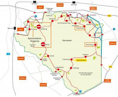 Karte Döberitzer Heide, Heinz Sielmann Stiftung