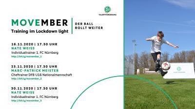 """Vorschaubild der Meldung: Mitmachen im DFB-Trainings """"Movember"""""""