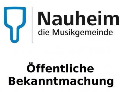 Foto zur Meldung: Aufforderung zur Einreichung von Wahlvorschlägen  für die Wahl der Gemeindevertretung der Gemeinde Nauheim  am 14. März 2021