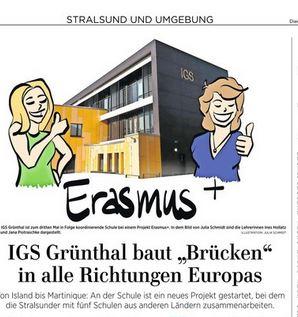 """Vorschaubild zur Meldung: IGS Grünthal baut """"Brücken"""" in alle Richtungen Europas"""