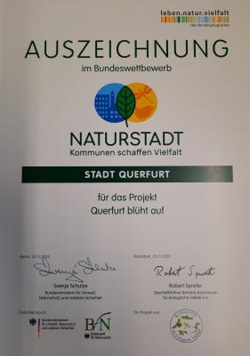 Foto zur Meldung: Stadt Querfurt gewinnt Naturstadt-Wettbewerb