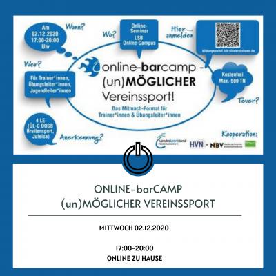 Foto zur Meldung: Online-BarCamp - (un)MÖGLICHER Vereinssport