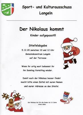 Foto zur Meldung: Der Nikolaus kommt nach Langeln.