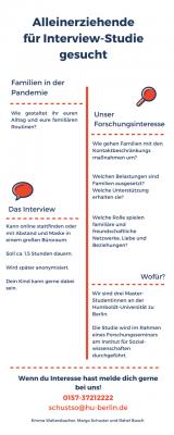 Vorschaubild zur Meldung: Teilnehmende für Interview-Studie gesucht