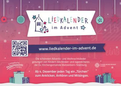 Liedkalender im Advent