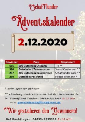Foto zur Meldung: Adventskalender - Gewinner 2.12.