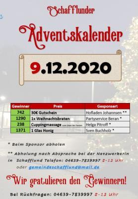 Foto zur Meldung: Adventskalender - Gewinner 9.12.