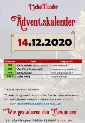 Foto zur Meldung: Adventskalender - Gewinner 14.12.