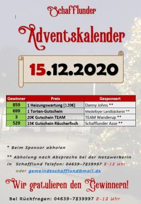 Foto zur Meldung: Adventskalender - Gewinner 15.12.
