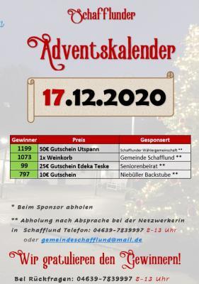 Foto zur Meldung: Adventskalender - Gewinner 17.12.