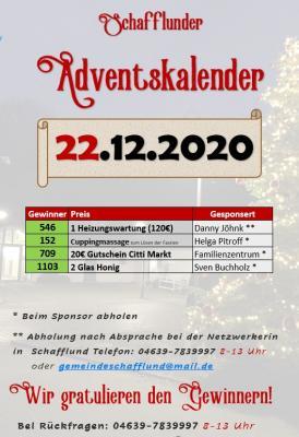 Foto zur Meldung: Adventskalender - Gewinner 22.12.