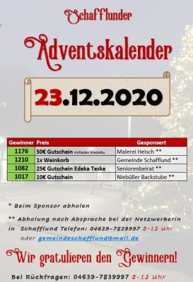 Foto zur Meldung: Adventskalender - Gewinner 23.12.