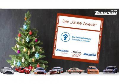 Foto zur Meldung: Adventskalender für den Guten Zweck - Zakspeed unterstützt Kinderschutzbund Ahrweiler