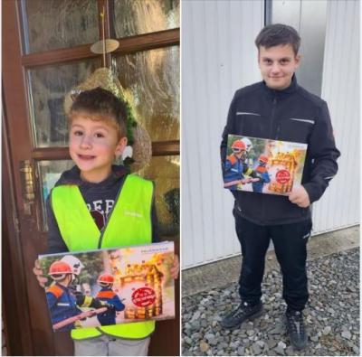 Vorschaubild zur Meldung: Kleine Überraschung für die Kinder- und Jugendfeuerwehr Vettweiß