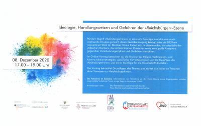 """Foto zu Meldung: Online-Vortrag """"Ideologie, Handlungsweisen und Gefahren der »Reichsbürger«-Szene"""""""
