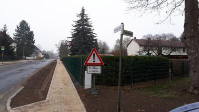 Foto zur Meldung: Gehwegbau Bahnhofstraße