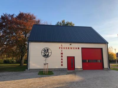 Foto zur Meldung: Neubau des Feuerwehrhauses in Leimbach steht