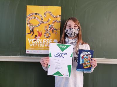 Gewinnerin des Vorlesewettbewerbs Isabella Klöpping
