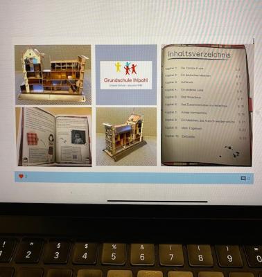 Foto zur Meldung: Die digitale Leinwand zur Ausstellung am 9.11.2020, das Tagebuch der Anne Frank