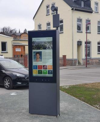 Vorschaubild zur Meldung: Info-Stele auf dem Göltzschplatz aktiv
