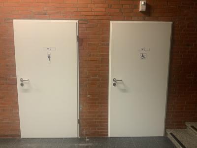 Foto zur Meldung: Das Behinderten WC ist fertig gestellt