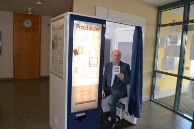 Foto zur Meldung: Fotokabine im Rathaus