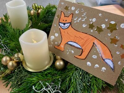 Foto zur Meldung: Vorweihnachtliche Grüße aus der Theodor-Andresen-Schule