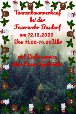 Foto zur Meldung: Tannenbaumverkauf der freiwilligen Feuerwehr Busdorf