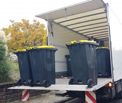 Grundverteilung der Gelben Tonnen ist in Florstadt abgeschlossen
