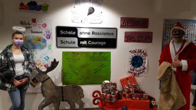 Der Nikolaus zu Besuch an der Sekundarschule Olsberg-Bestwig