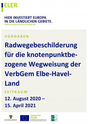 Radwegebeschilderung für die knotenpunktbezogene Wegweisung der VerbGem Elbe-Havel-Land - 2. Projektphase