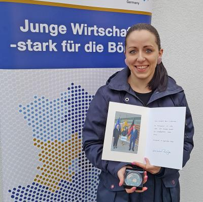Foto zur Meldung: Barleberin erhält Ehrung für ehrenamtliche Tätigkeit vom Land Sachsen Anhalt