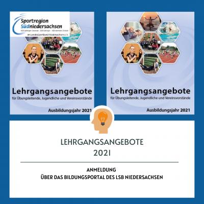 Foto zur Meldung: Lehrgangsangebote 2021 der Sportregion Südniedersachsen