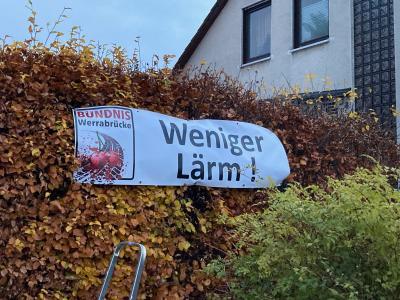 Bündnis Werrabrücke - Banner in der Stadt