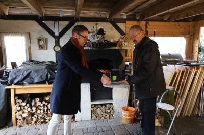 Foto zu Meldung: Ehrung und Übergabe des Ehrenamtspokals an Herrn Friedrich Ball