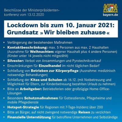 Foto zur Meldung: Lockdown vom 16.12.2020 - 10.01.2021