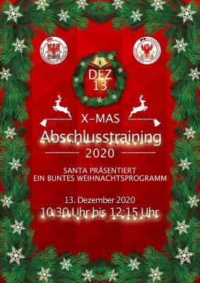 Weihnachtliches Gesamttraining zum Jahresausklang