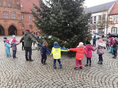Foto zur Meldung: Baumschmuck für den Weihnachtsbaum auf dem Markt