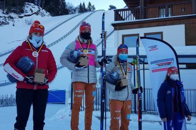 Foto zur Meldung: Cindy gewinnt Deutschlandpokal in Seefeld