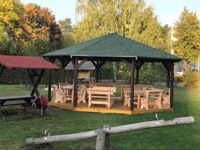"""neuer Pavillion für den betreuten Spielplatz """"Pirateninsel Rabauki"""""""